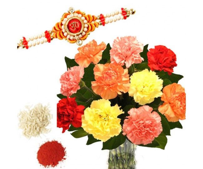 Rakhi With Carnation
