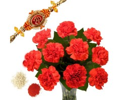 https://www.emotiongift.com/Carnation-With-Rakhi