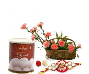 Rasgulla With Carnations