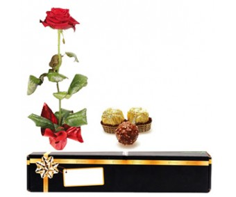 Red Rose N Ferrero Rocher