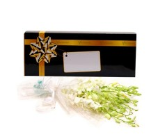 White Orchids In a Box
