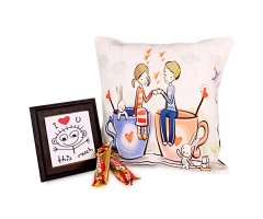 Amazing Couple Print Cushion