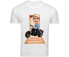 Caricatured Buddy On Tee