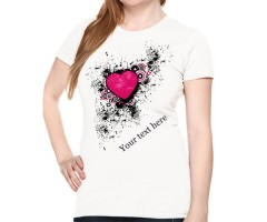 Personalize Your Heart T-Shirt For Her