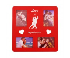 15x15 inch 4 in 1 red love wooden frame.