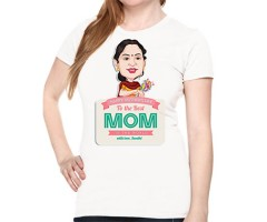 Mom Caricature T shirt with with name printed.