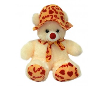 A-Maze Soft Teddy With Love Hat - 49 cm