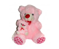 Arc Cute Pink Teddy Bear with Baby Soft Toy
