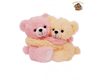 Couple Of Dimpy Stuff Light Pink and Cream Color Bear Soft Toy