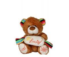 Dark Brown Coloured Teddy Bear With Good Luck