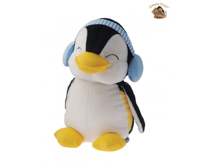 Dimpy Perky Penguin With Earmuffs-35 cm