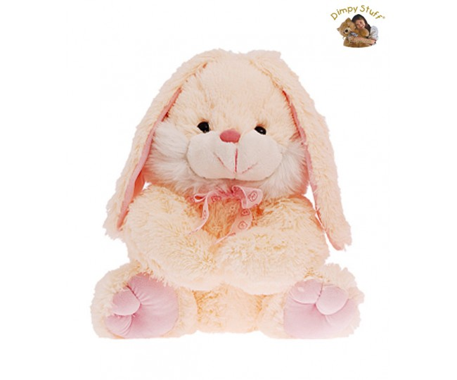 Dimpy Stuff Cute Pink Bunny With Drooping Ears Soft Toy-30 cm