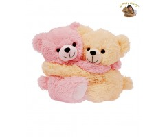 Dimpy Stuff Light Pink & Cream Bear Couple Soft Toy-20 cm