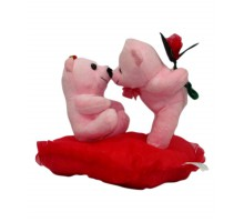 Pink Kissing Teddy Couple- 20 cm