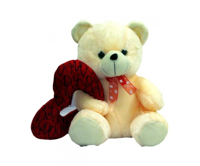 Valentine Teddy With Ring Heart (25 cm)