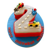 Car Race cake for boys