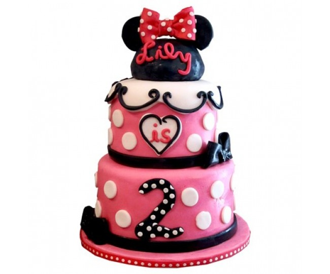 3 tier Charming Minnie Mouse
