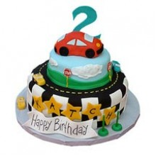 3 tier Coolest Car Cake 3kg