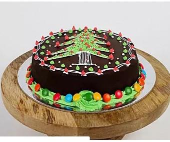 designer Christmas cake 5