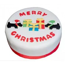 designer Christmas cake 6 in sugauli