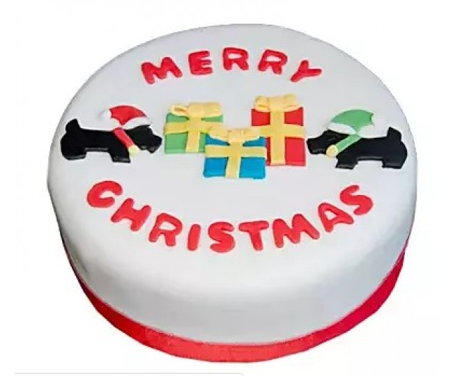 designer Christmas cake 6