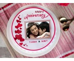 Anniversary Photo Cake
