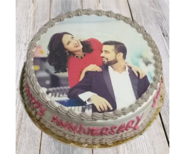 Couple Photo Cake