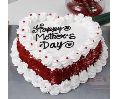 Heart Shape Mothersday Cake