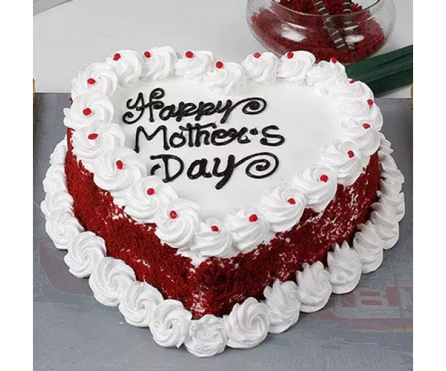 Heart Shape Mothersday Cake