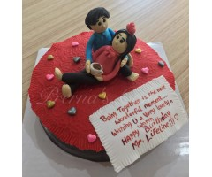 Being together cake - valentine