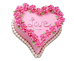 Cute Love Heart Cake