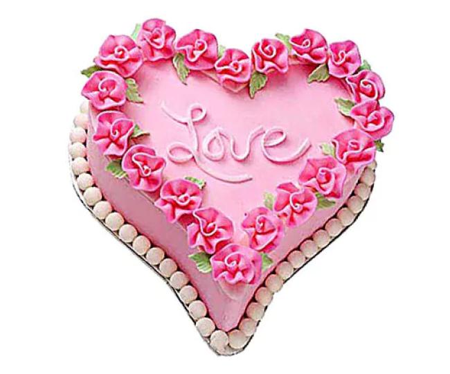 Cute Love Heart Cake