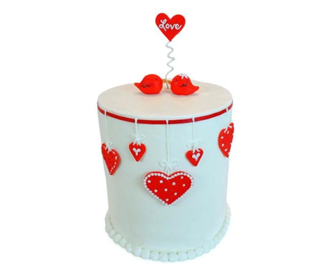 Love Birds Cake 3.5kg - Agra