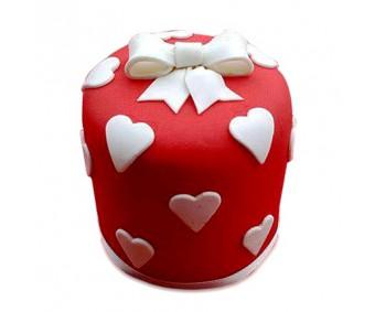 Heart Gift Cake 2kg - Agra