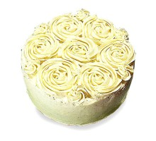Cream Rose Cake 1kg