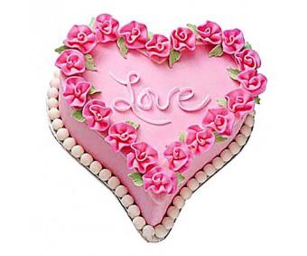 Gift A Heart Cake 2kg - Agra