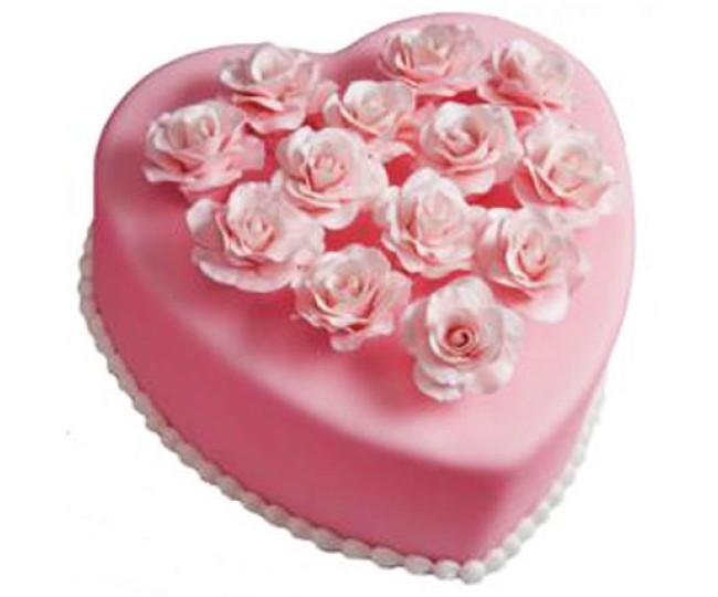 Pink Heart Cake 2.5kg - Agra