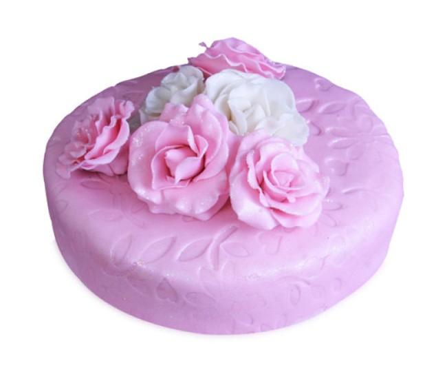 Valentine Pink Rose Cake 2.5kg