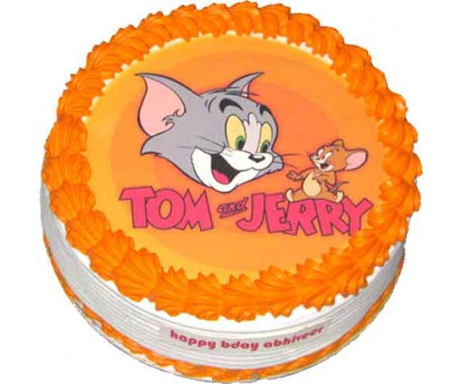 Tom and jerry photo cake 1 kg