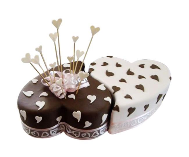 Twin Heart Choco Vanilla Cake 2 Kg