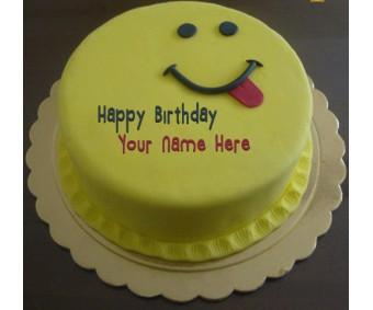 Silly smiley birthday cake name 1 kg