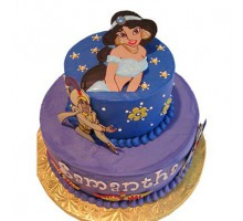 3 tier cake aladdin jasmine pictures 3 kg