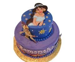 3 tier cake aladdin jasmine pictures-3kg