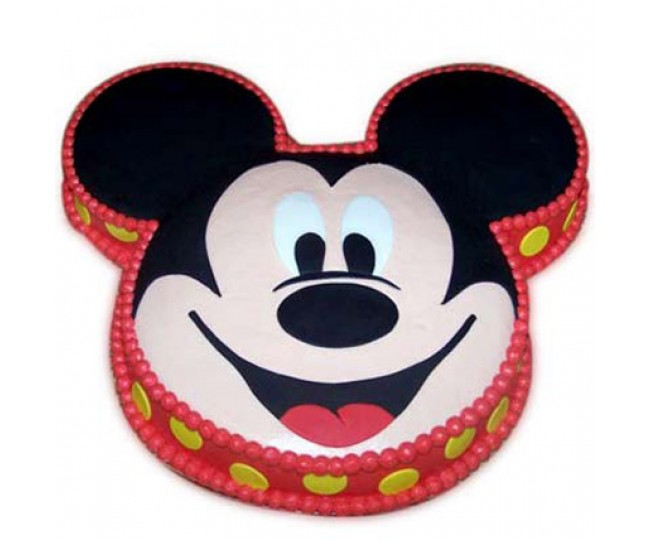 Soft mickey face cake 2 kg