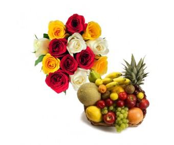 Roses N Fresh Fruits-Diwali