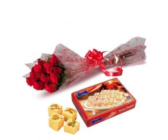 Roses with Sone Papri-Diwali