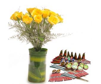 Yellow Roses n Crackers