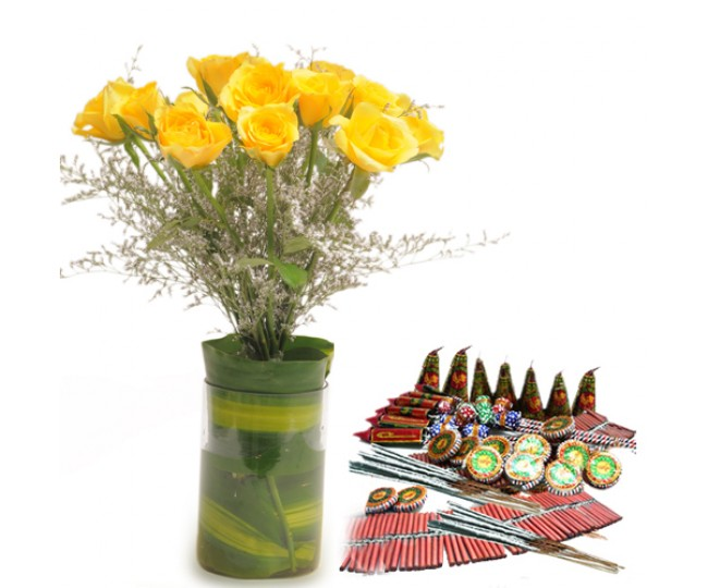 Yellow Roses n Crackers