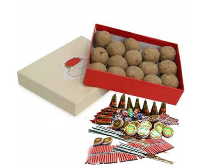 Diwali Ladoo & Crackers