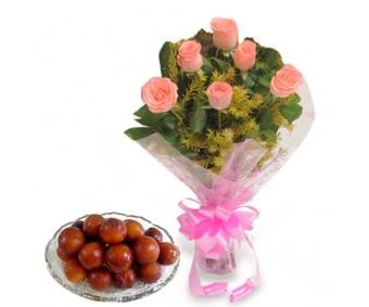 Pink Roses N 1 Kg Gulab Jamun